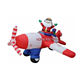 Christmas ornaments inflatable Santa with train for decorating