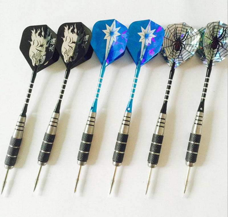 Copper Plated Steel Needle Tip Dart Darts With National Flag Flights