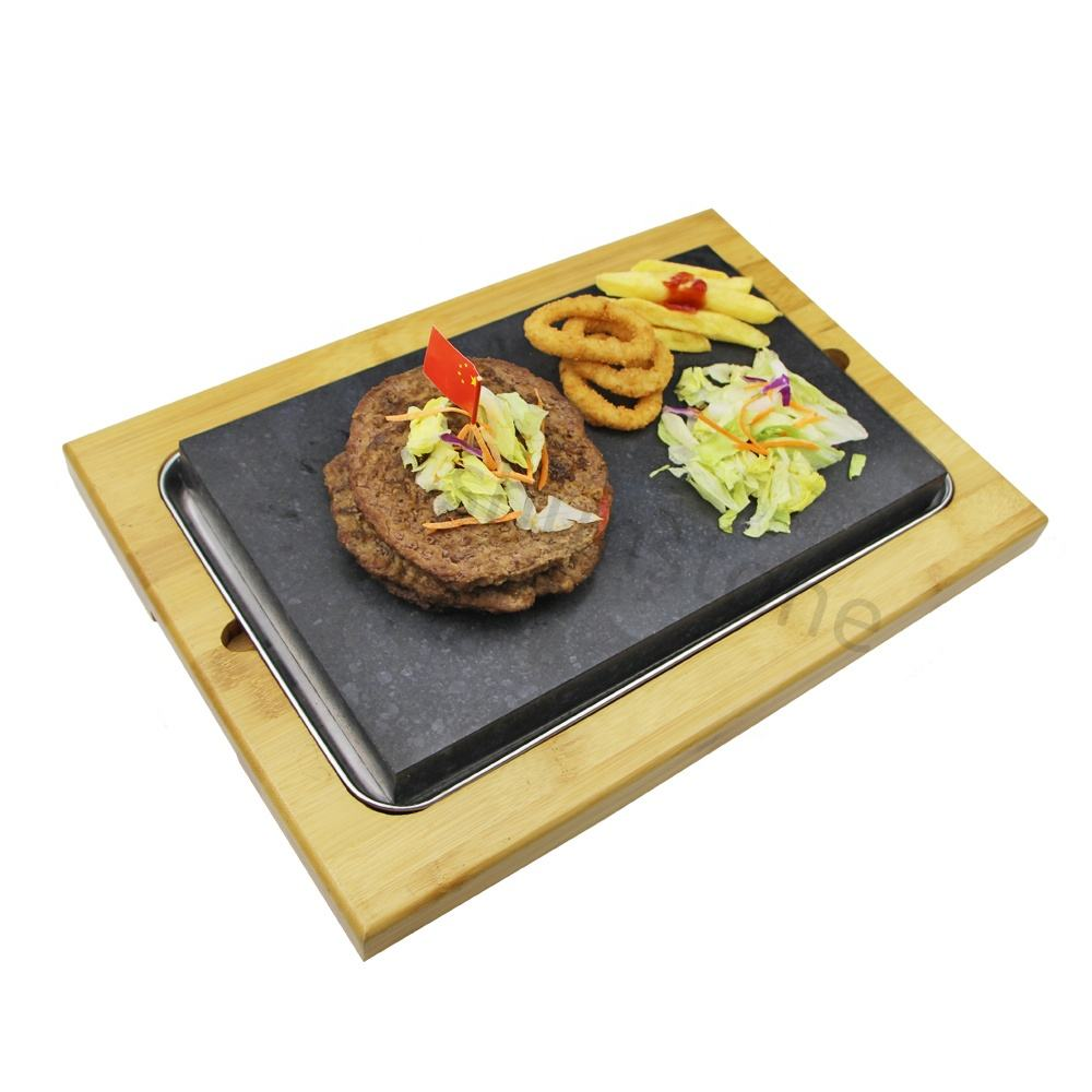 Restaurant Barbecue Basalt Steak Steen Voor Koken Hete Plaat En Grill Basalt Koken Lava Steen Beste Prijs Steak Grill