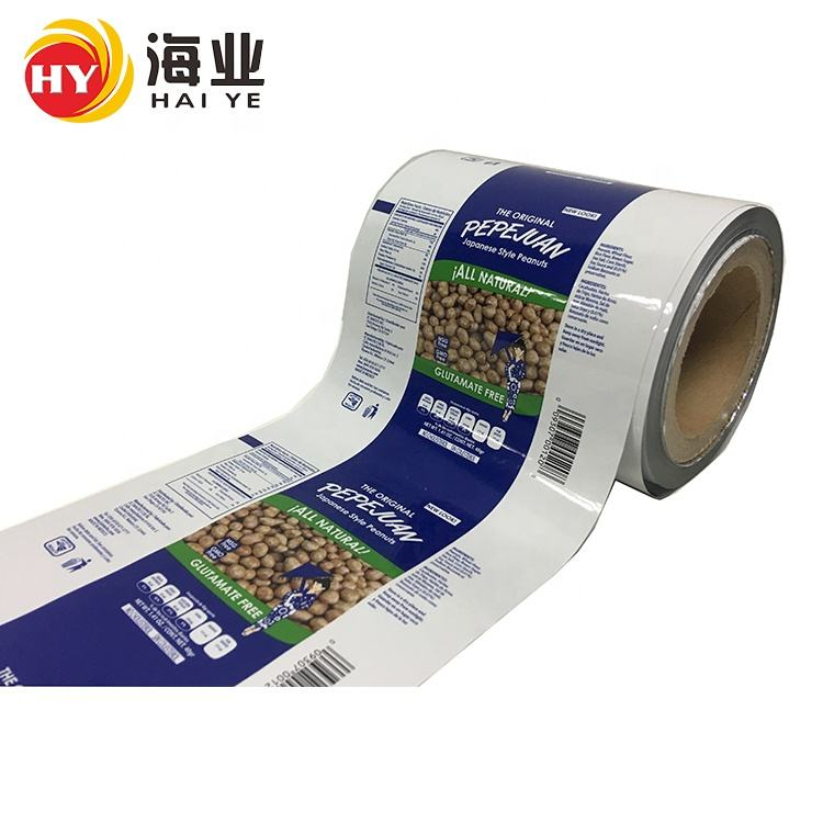 Durable plastic PET/CPP/PE/BOPP food packing roll film