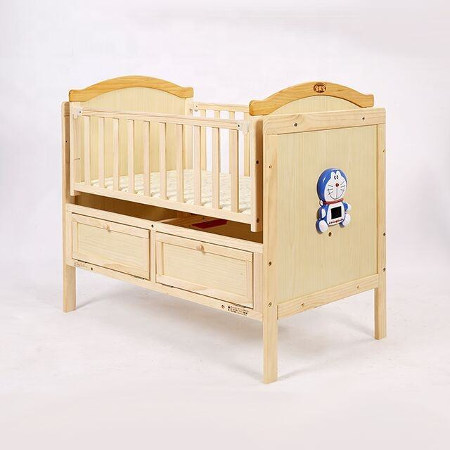 Factory price wooden material electronic swing bed baby vibrator for crib