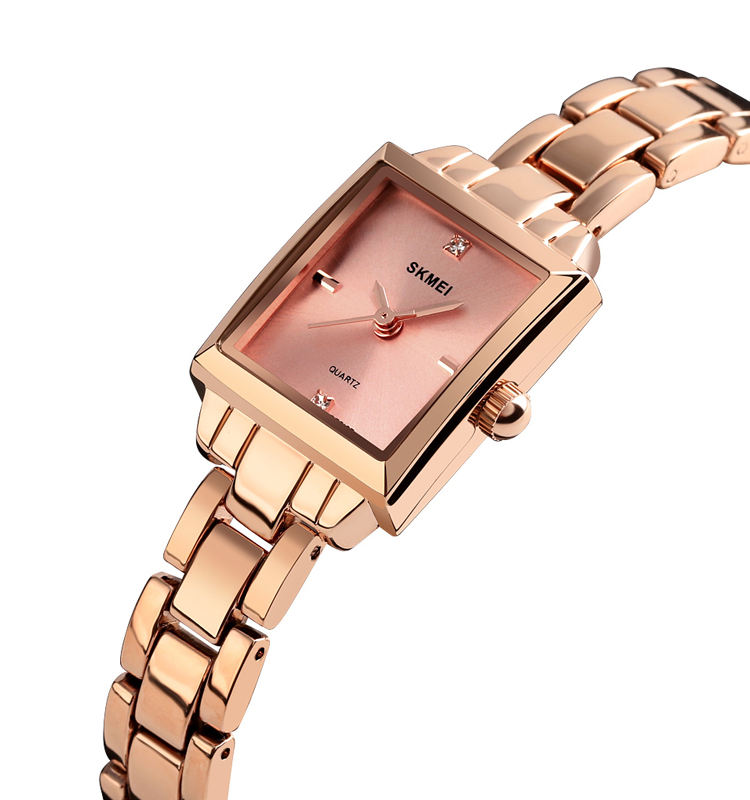 Rose gold silver color SKMEI time chain wristwatch watch ladies women