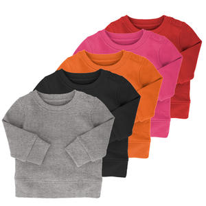 High Quality Super Soft 0-12 Months France Terry Fabric Plain Baby Sweatshirt