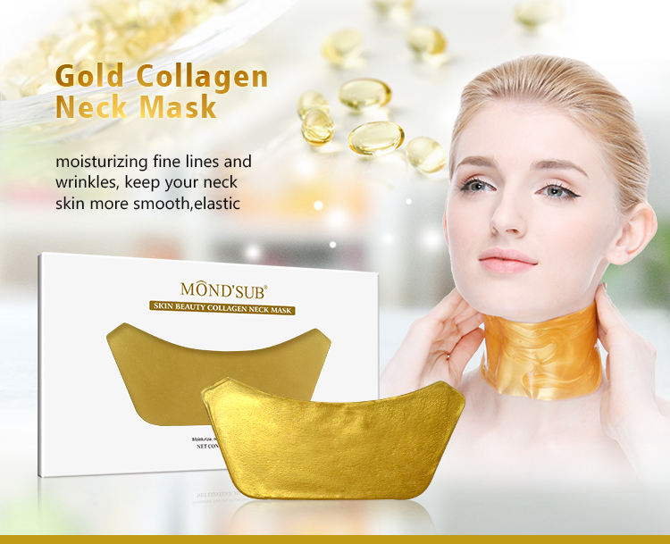 Best 2018 beauty cosmetic products powder anti aging and wrinkle skin care crystal face 24k gold collagen neck mask