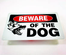 Aluminum Beware of the dog sign