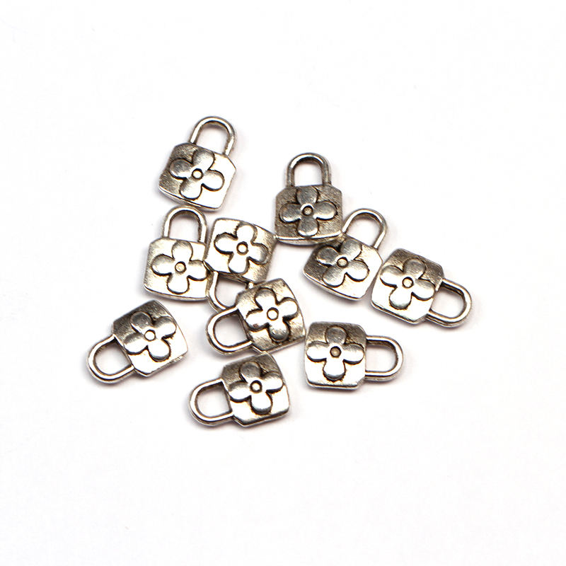 Silver Color Lock Charms Pendant for DIY Bracelet High Quality Zinc Alloy Lock Jewelry Findings Wholesale