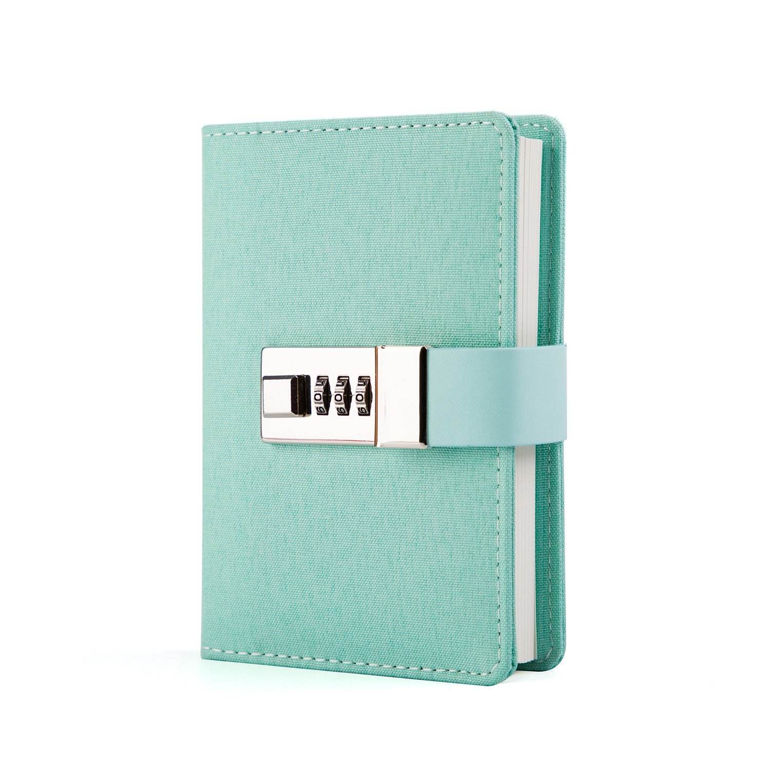 Small Fabric Hardcover Password Lock Note Book from School Supplier
