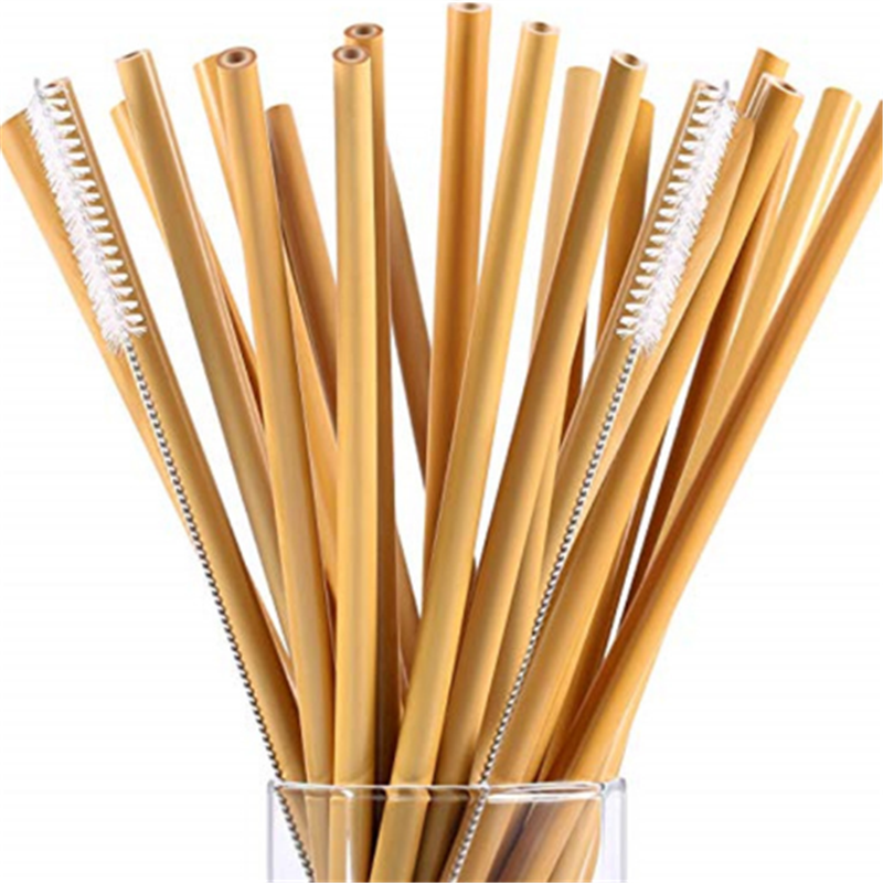 natural bamboo straw amazon supplier No Plastic and not steal bamboo wooden drinking straws