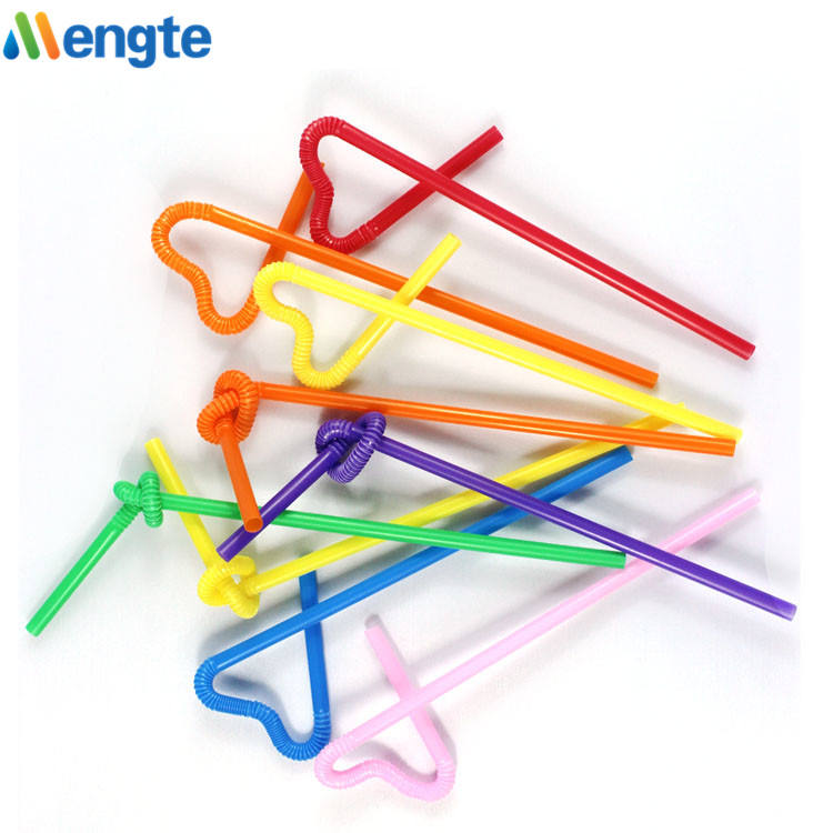 Artistic disposable plastic drinking straw