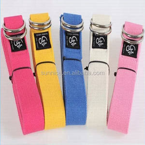 Natural cotton organic yoga belt strap