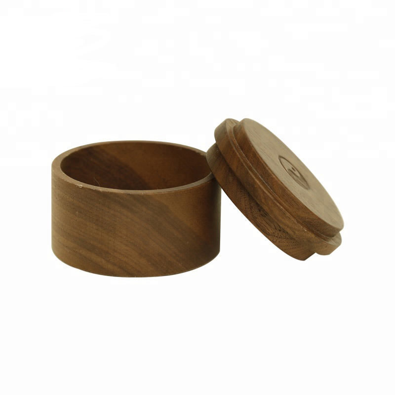 Round Shape Dual Purpose Wood Jewelry Box Tea Box Gift Box