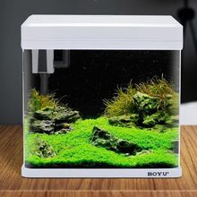 2018 BOYU New design desktop portable mini square fish tank aquarium with running water