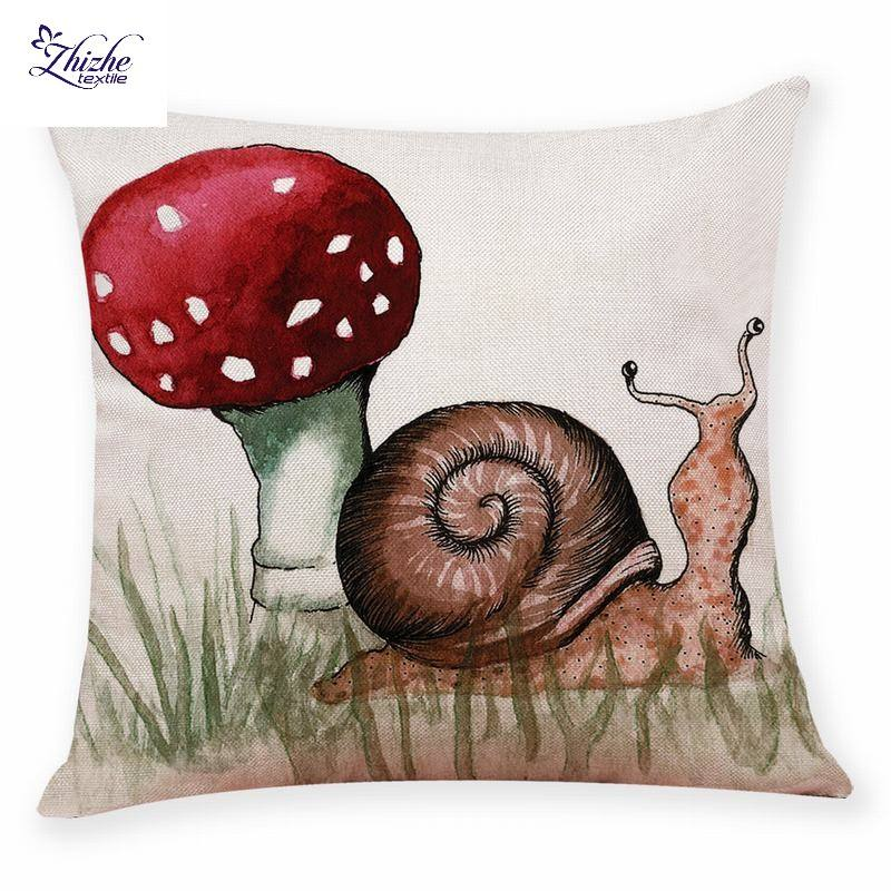 French style snail printed cushion covers ready to ship