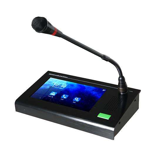Desktop and wall-mounted IP network intercom system, one-to-one intercom. One-to-many voice broadcasting IP intercom system