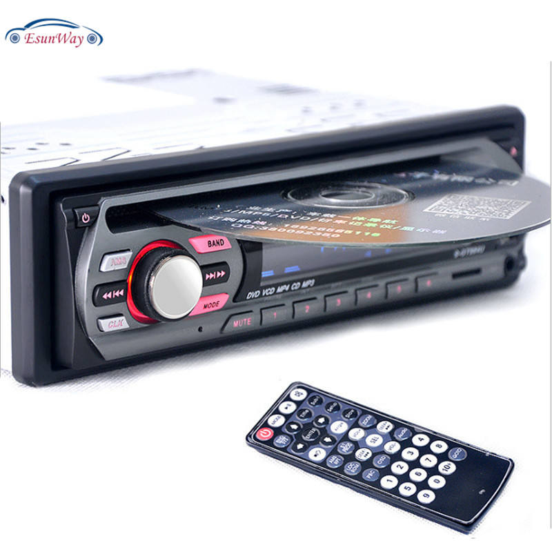 EsunWay 1Din 12V Auto DVD <span class=keywords><strong>Player</strong></span> Auto Audio Multi Funktion Fahrzeug CD VCD <span class=keywords><strong>Player</strong></span> mit Fernbedienung MP3 <span class=keywords><strong>Player</strong></span>