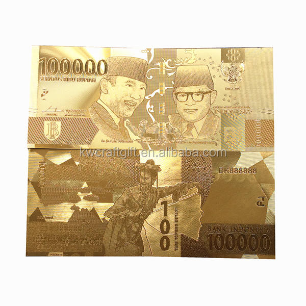 Customize money bill Indonesia 10000 currency Banknote