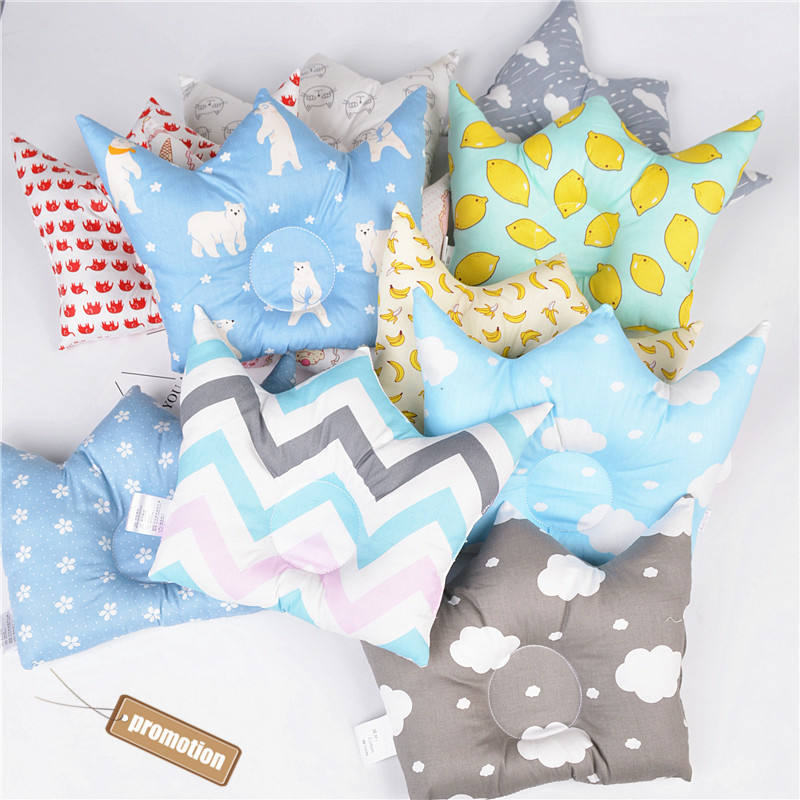 Baby Head Shaping Pillow Memory Foam Pillow. NewPI Baby Pillow Baby Head Shaping Prevent Flat Head Blue