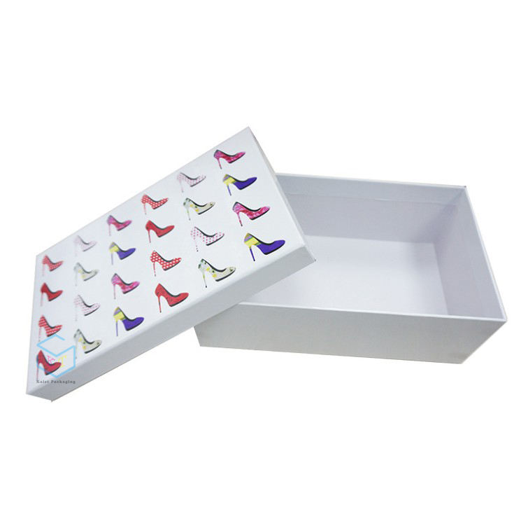 custom luxury cardboard packaging ladies high heel shoe boxes