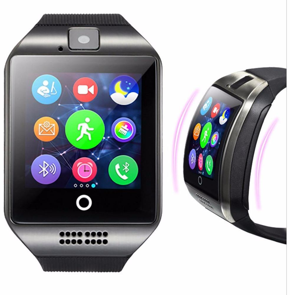 Factory Price Curved screen bend screen SIM card slot camera Q18 smart watch phone