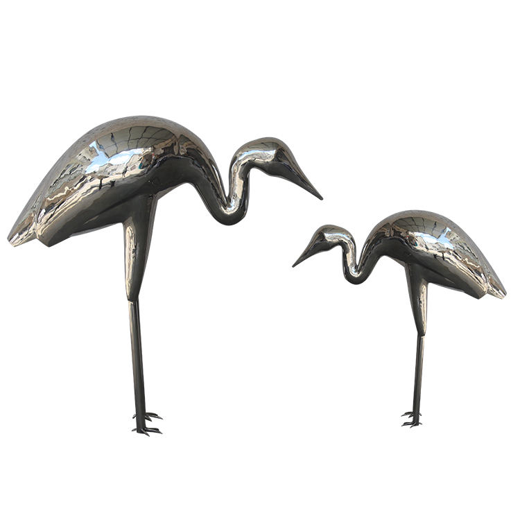 garden animal stainless steel sculpture for decoration