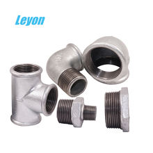 Galvanized iron pipe fittings bushing connect iso9001equal tee 90 degree elbow hex reducing nipple 1/2 inch tee