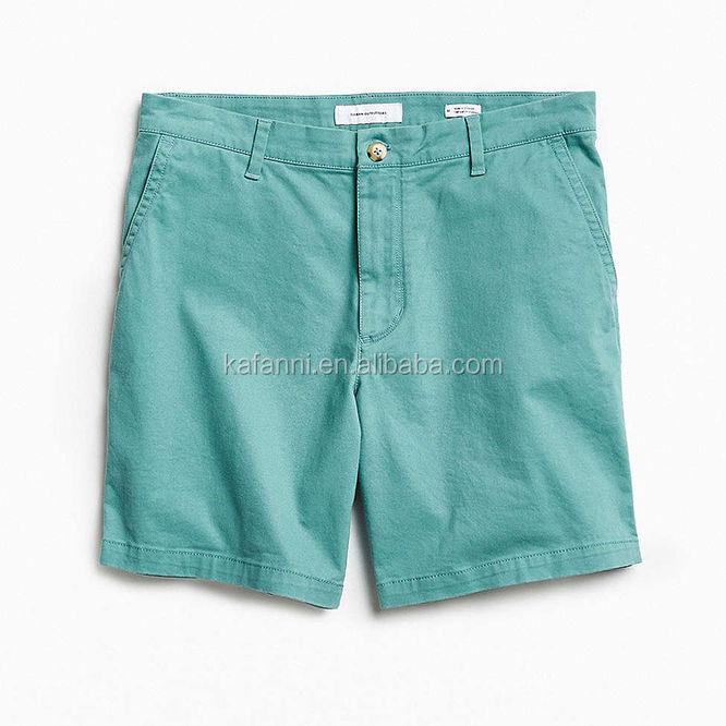 Khaki Men Four Pockets Chino Short