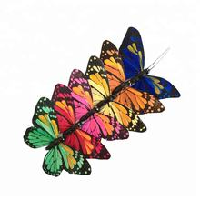 Assorted colors hand painted customized monarch butterfly feather butterflies for wedding decorations
