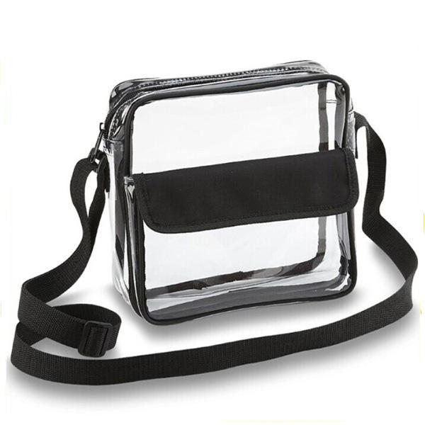 China New Product Messenger Shoulder clear pvc crossbody bag