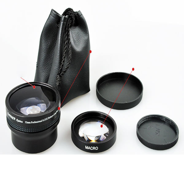 Canon pour objectif Fisheye, objectif grand Angle pour 58mm Rebel T3i T3 T2i T1i 18-55mm
