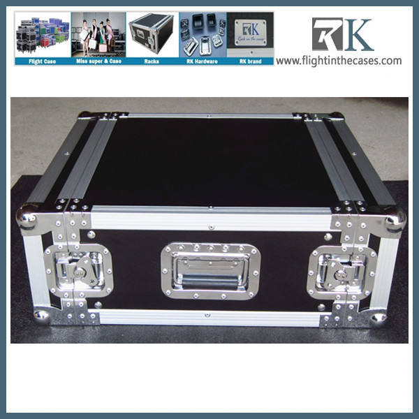 XSPRO XS3U-10 3 Space 3U ATA Effects Rack Flight Case Front and Back Rails 19 Wide