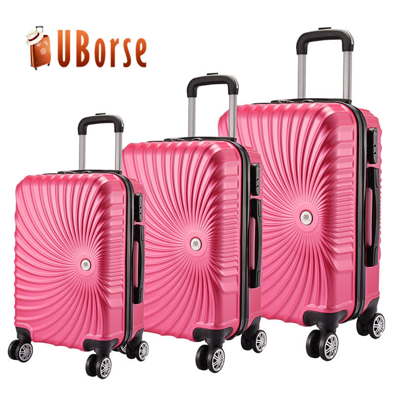 ABS trolley luggage bags colorful cheap luggage sets