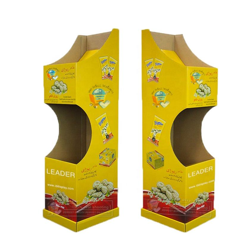 POP Wholesale Advertising Carton Stand/Corrugated Paper Floor Retail Display