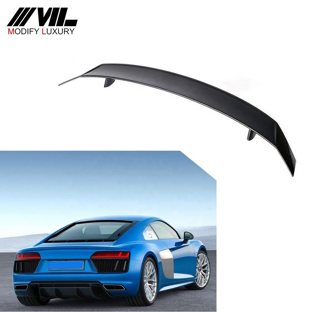 R8 O Style Carbon Fiber Rear Tail Spoiler for Audi R8 Coupe 2-Coupe 2016-2018