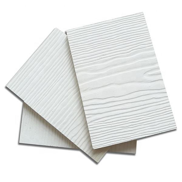 Factory Cheap Price Decorative High Strength Fireproof White Color Wooden Grain Mgo Panel Boards For External Walls