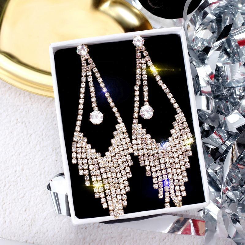 Jinxian Pearls Drop Earrings Dangling Vintage Retro Gold Plated Studs