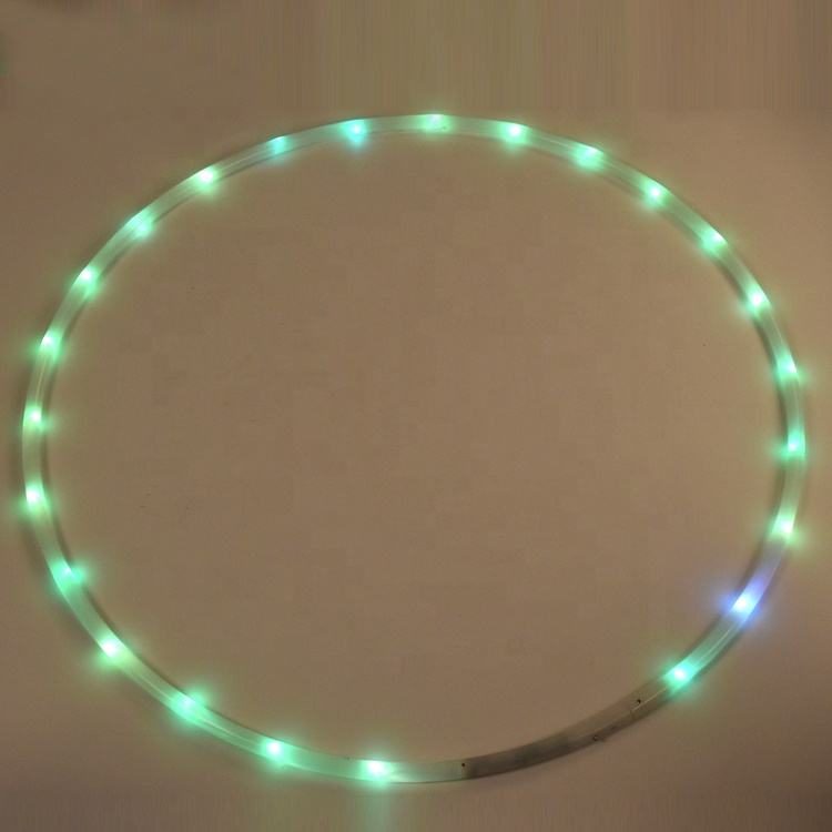 One-Stop Service Wholesale Led Flashing Hula Hoop Child Fitness Weight Tight Lighted Hoops for Adults Kids