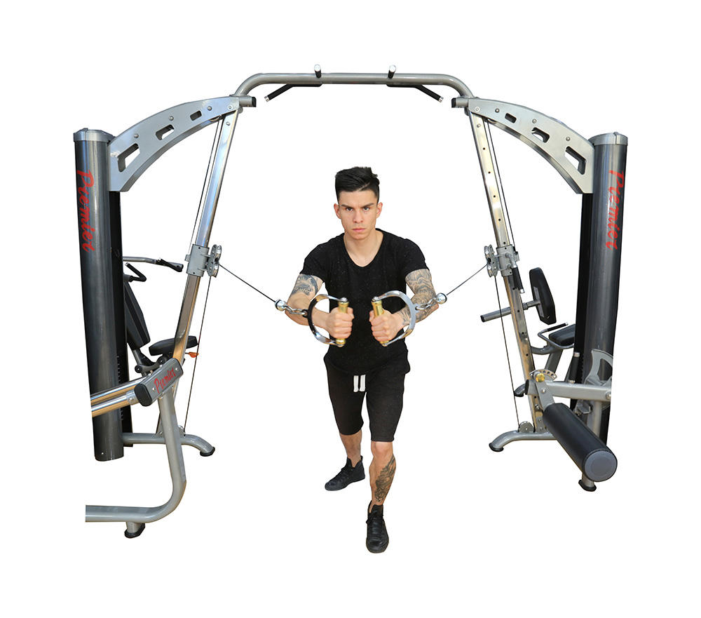 Gym equipment ten Multi function 10 Station standing integrated equipment