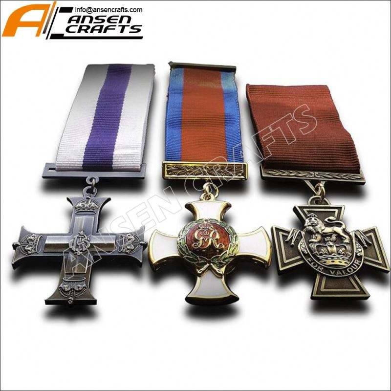 British Military Medals 3x Set Military Cross Distinguished Service DSO and Victoria Cross Medals