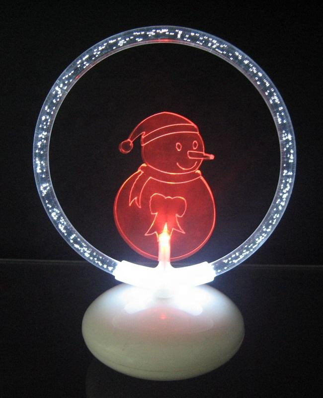 Battery operated led kleur veranderende kerst acryl licht up <span class=keywords><strong>sneeuwpop</strong></span>