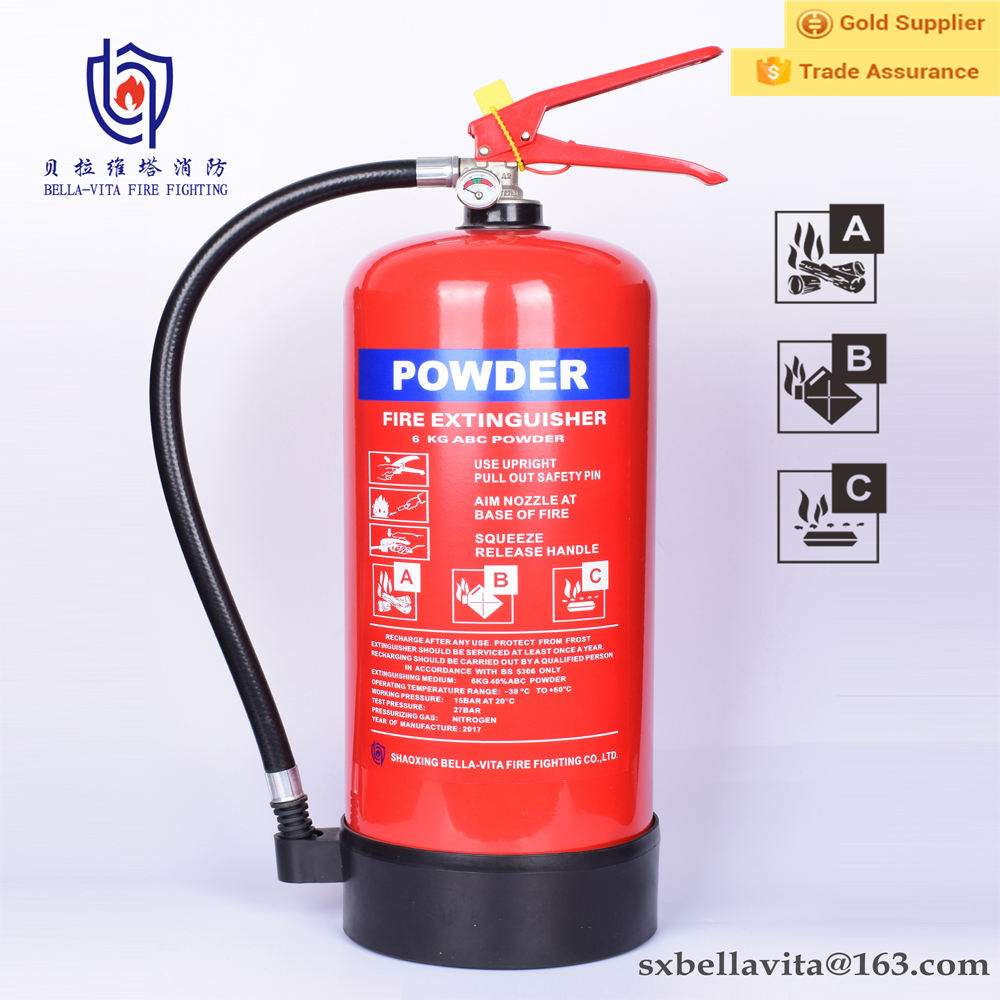 6kg 8kg abc dry chemical powder sizes of fire extinguishers fire fighting foam equipment