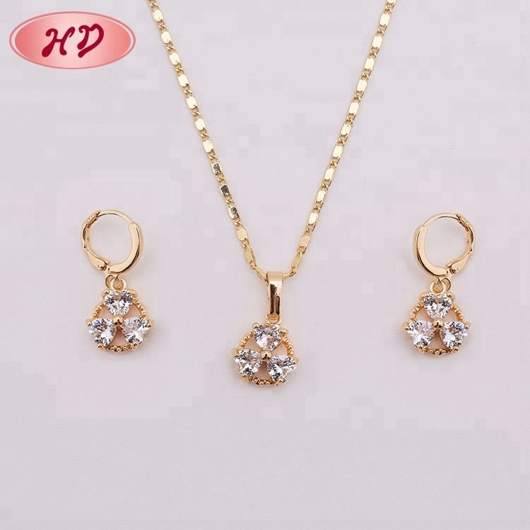 New Nice Earrings and Necklaces India 1 Gram Gold Jewellery
