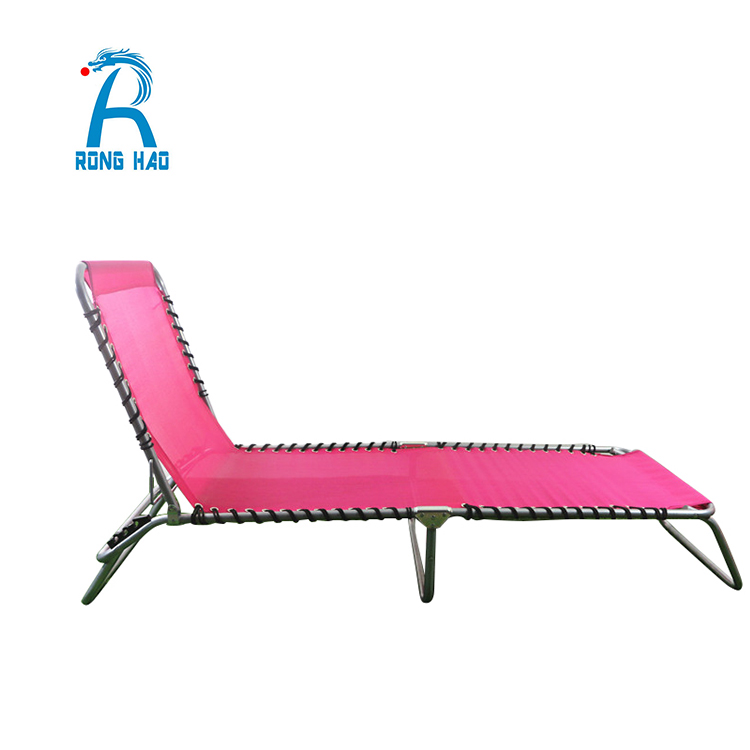 Universal Hot Product Natural Europe Standard Plastic, Metal and Canvas Portable Folding Bed