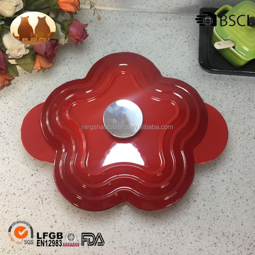 Cast-iron flower shape enamel iron casserole