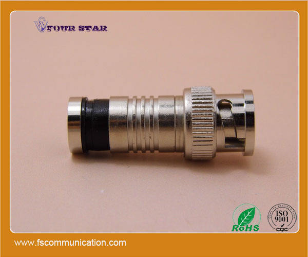 rg6 bnc type coaxial compression for rg6 cable bnc catv connector
