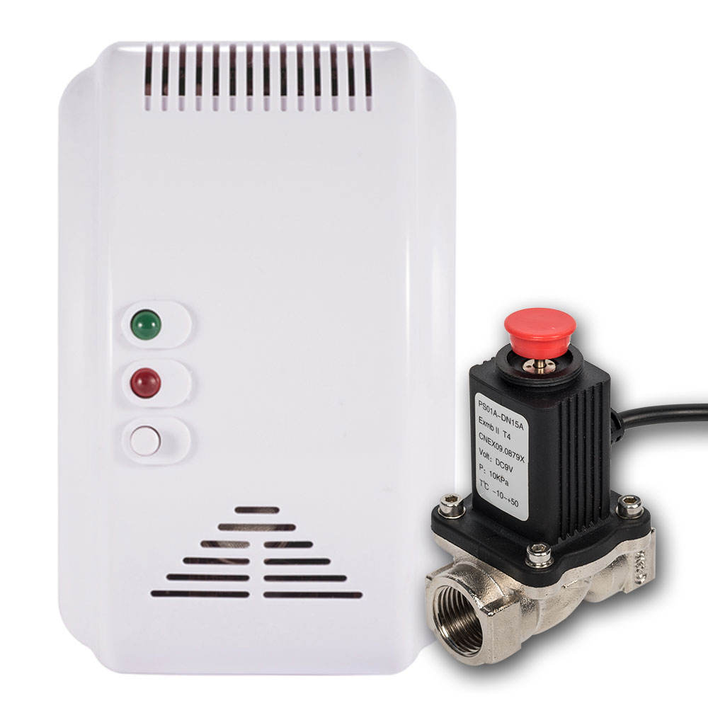Smart Wireless Home Keuken Gas Sensor Detector Met Valve Gaslek