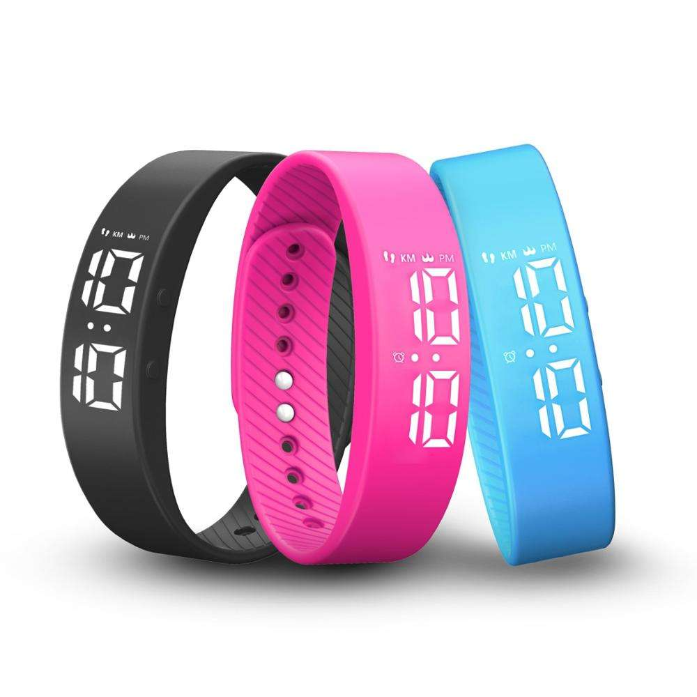 2020 new model cheap LED activity tracker watch with alarm clock stopwatch wristband pedometer