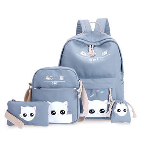 China bag manufacturer supplier 2019 new design kids school bags set