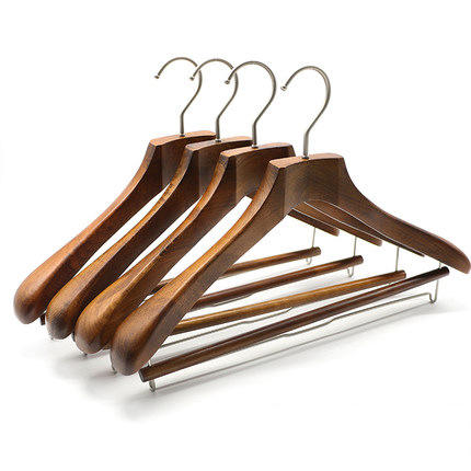 Extra long wide fashion oversized garment laundry trouser wooden cloth clothes coat large hangers