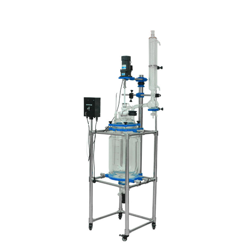 2019 1-100L Big New Glass Jacketed Laboratory Reactor Vessel