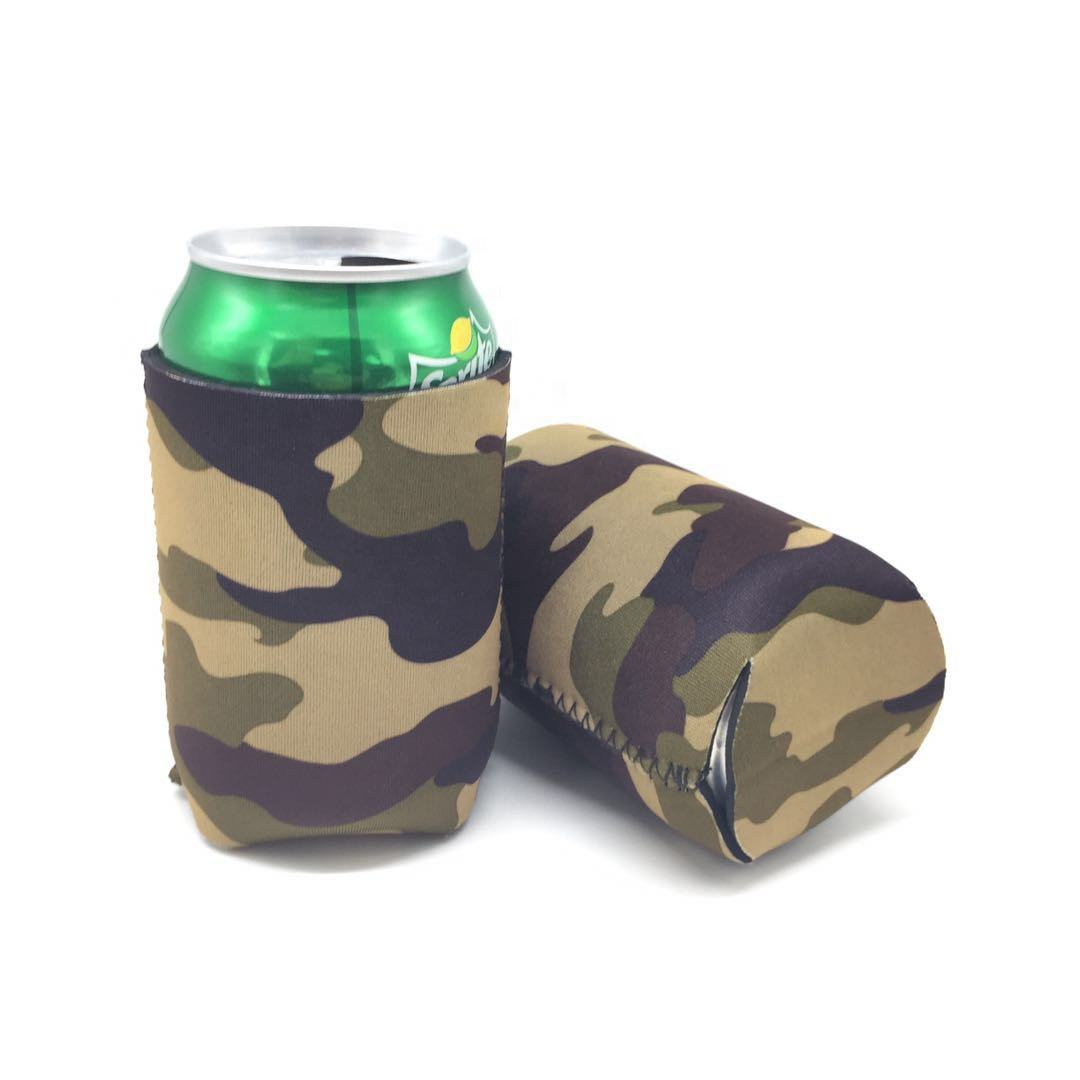 High quality Neoprene Stubby Holder Custom Digital Camo Printing Can Cooler For Comfortable Drinking
